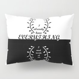 ANCIENT KNOWLEDGE,BLACK&WHITE,Self Affirmations,NEW AGE Pillow Sham