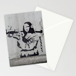 mona lisa - banksy Stationery Cards