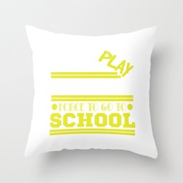 Do you live the life of a decent gamer? Then this is a must-have for you! Born To Play Video Games Throw Pillow