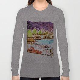 Nuweiba beach life Sinai Long Sleeve T-shirt