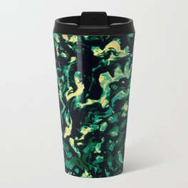 Coral Groovism Metal Travel Mug