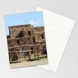 A Taos Pueblo Building Stationery Cards