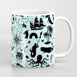 High Seas Adventure // Teal Waves Coffee Mug