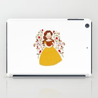 bookworm iPad Cases featuring Rumbelle - Belle bookworm by lolia