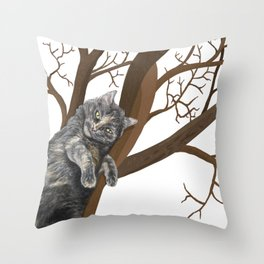 Tree Cat Throw Pillow