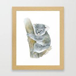 Koala Watercolor Painting Framed Art Print
