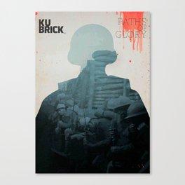 Paths of Glory, Stanley Kubrick, movie poster, Kirk Douglas, Orizzonti di Gloria, WWI war movie Canvas Print