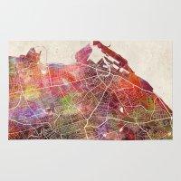 edinburgh Area & Throw Rugs featuring Edinburgh by MapMapMaps.Watercolors
