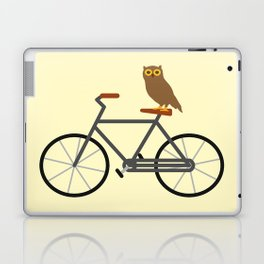 Owl Riding Bike Laptop & iPad Skin