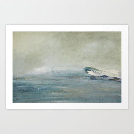 la vague Art Print