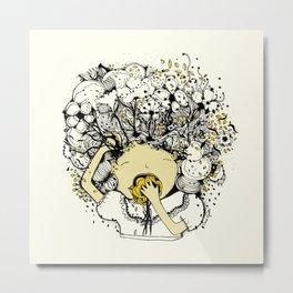 cerebro flor Metal Print