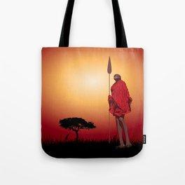 Masai & Africa Tote Bag