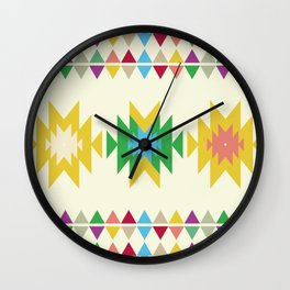 Folk Wall Clock