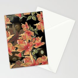 Yellow roses . Imitation glass .3D/ Stationery Cards