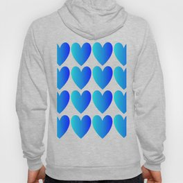 Love Hearts Classic Blue Ombre Hoody