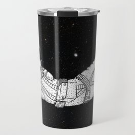 André Floating Around in Otter Space Travel Mug