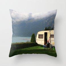 Alpine Lounging Throw Pillow