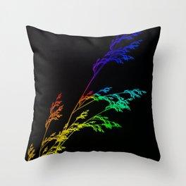 Nature,Minimal,rainbow Throw Pillow