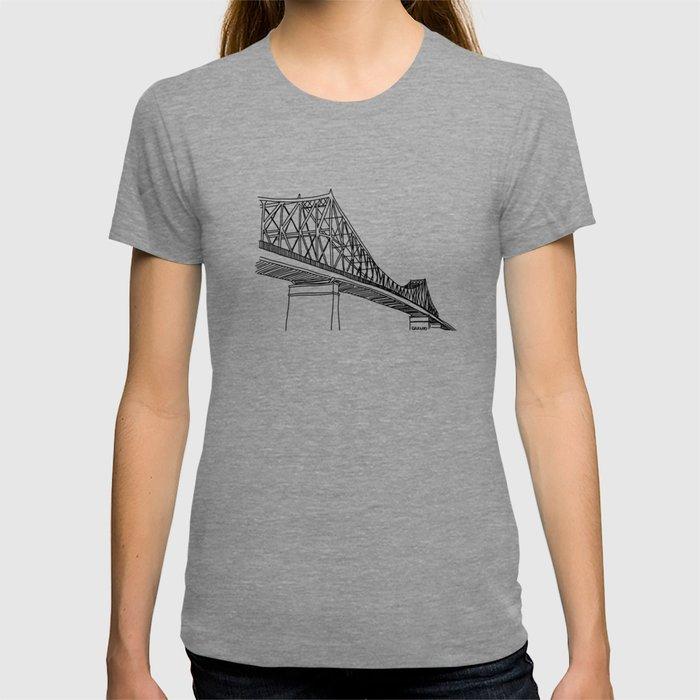 Montreal - Pont Jacques-C - Black T-shirt