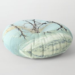 Three Trees in the Sea - Salton Sea California Floor Pillow