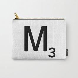 Letter M - Custom Scrabble Letter Tile Art - Scrabble M Initial Carry-All Pouch