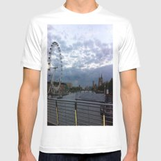 London Calling White MEDIUM Mens Fitted Tee