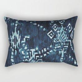 SATELLITE TRIBAL - INDIGO Rectangular Pillow