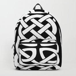 St Patrick's Day Celtic Cross Black and White Backpack