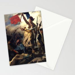 "Eugène Delacroix ""Le 28 Juillet. La Liberté guidant le peuple (Liberty Leading the People)"" Stationery Cards"