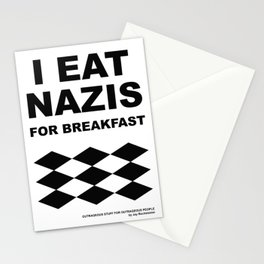 I eat Nazis for breakfast Stationery Cards