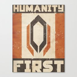 Humanity First Canvas Print