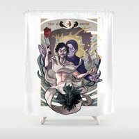 will graham Shower Curtains featuring Designing Will Graham by tumblebuggie
