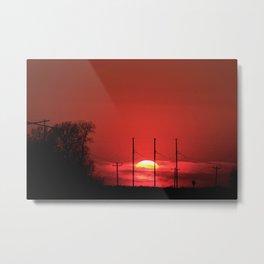 Kansas Red Sunset Metal Print