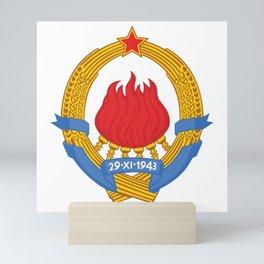 Yugoslavia Emblem Mini Art Print