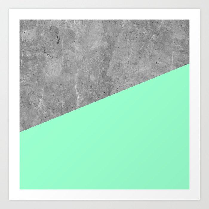 Geometry 101 Mint Meringue Art Print