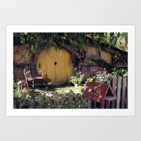 hobbit Art Prints featuring The Hobbit by Cynthia del Rio