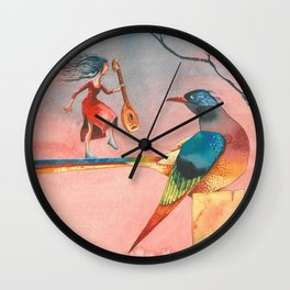 In dreams Fairy tale Colorful Bird Wall Clock