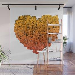 Camera Heart - gradient Wall Mural