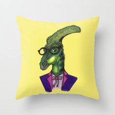 Hipster Dino Throw Pillow