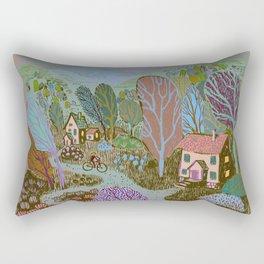 Village in color Rectangular Pillow
