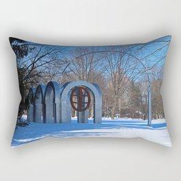 Toledo Botanical Arch in Winter II Rectangular Pillow