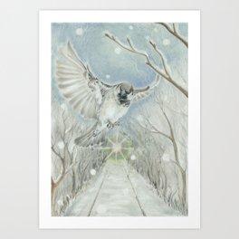 December Boulevard Art Print