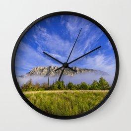 Sainte Victoire du matin Wall Clock