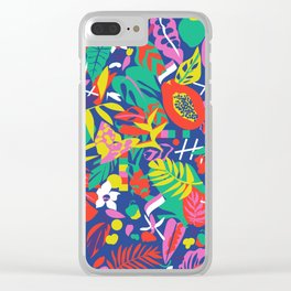 tropical pattern play Clear iPhone Case