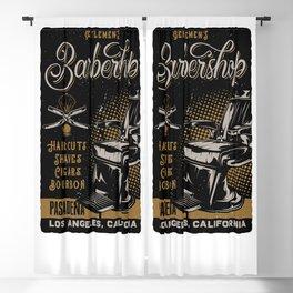 Gentlemen's Barber Shop LA Blackout Curtain