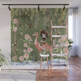 Green Chinese Forest Wall Mural