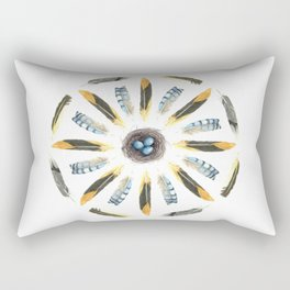 Feather Mandala 1 - Watercolor Rectangular Pillow