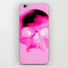 Magenta Skull iPhone Skin