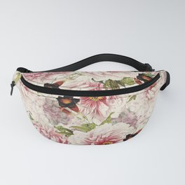 Small Vintage Peony and Ipomea Pattern - Smelling Dreams Fanny Pack