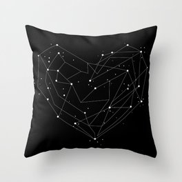 Constellations of the Heart Throw Pillow